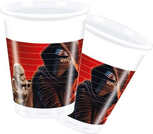 Star Wars Force Cups 200ml 8's Space Scifi Christmas Nativity